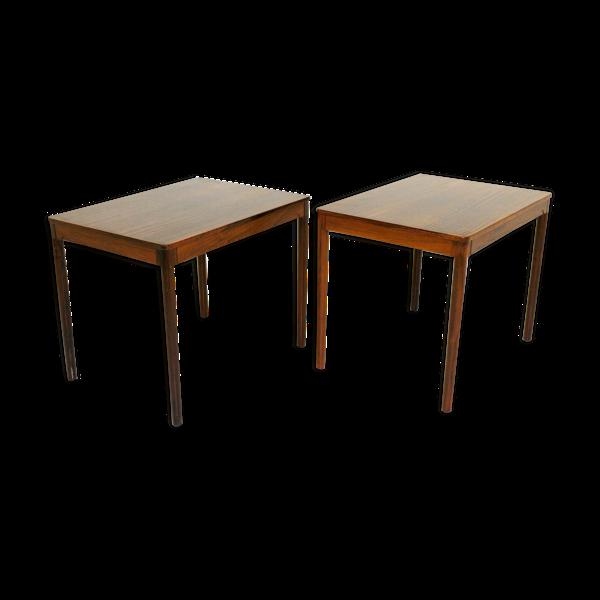 Paire de tables de chevets ou d'appoints en palissandre, Suède, 1960