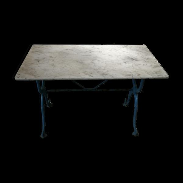 Table de bistrot bleu