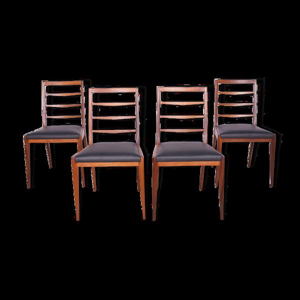 Ensemble de quatre chaises en teck du milieu du siècle de McIntosh, années 1960, ensemble de 4
