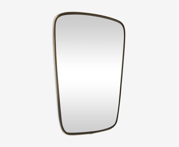Miroir vintage 1960 rétroviseur 57 x 36 cm