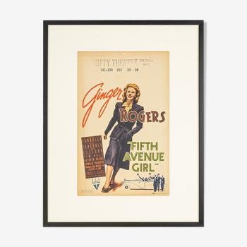 Carte fenêtre «fifth avenue girl», ginger rogers