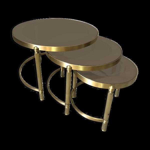 Selency Tables gigognes en laiton des années 50