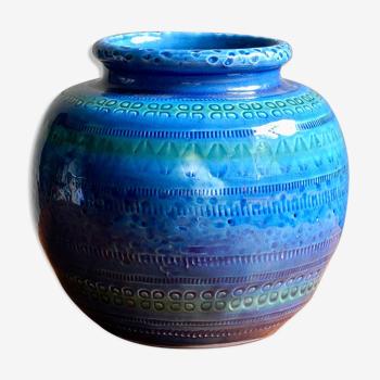 Vase boule céramique des années 60
