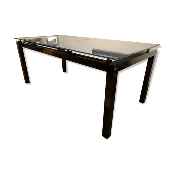 Table Cinna First Glass avec rallonge intégrée