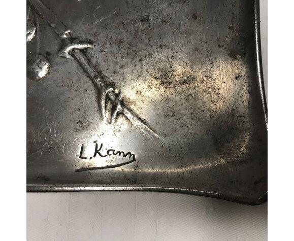 Art Nouveau tin pocket vacuum by Léon Kann 19th