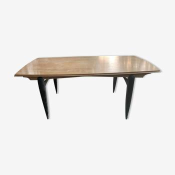 Table en chêne vintage design 1950