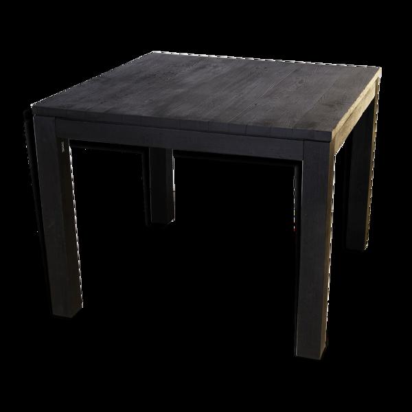Selency Table ou bureau bois brûlé shou-sugi-ban