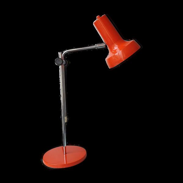Lampe de bureau en métal orange Hala Zeist années 70