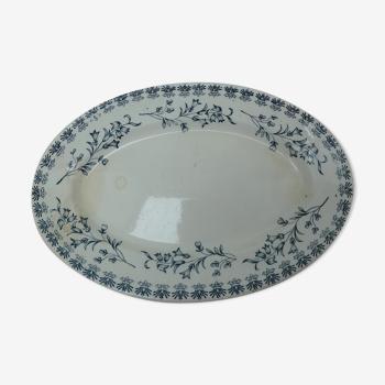 Plat ovale motif campanules