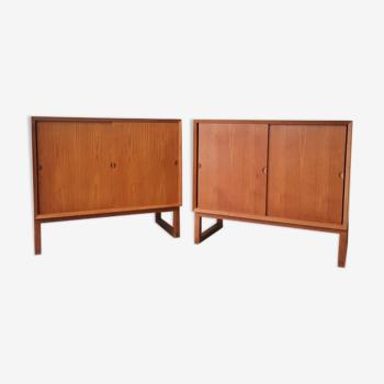 Paire de meubles scandinave en teck Poul Cadovius 1960 Cado
