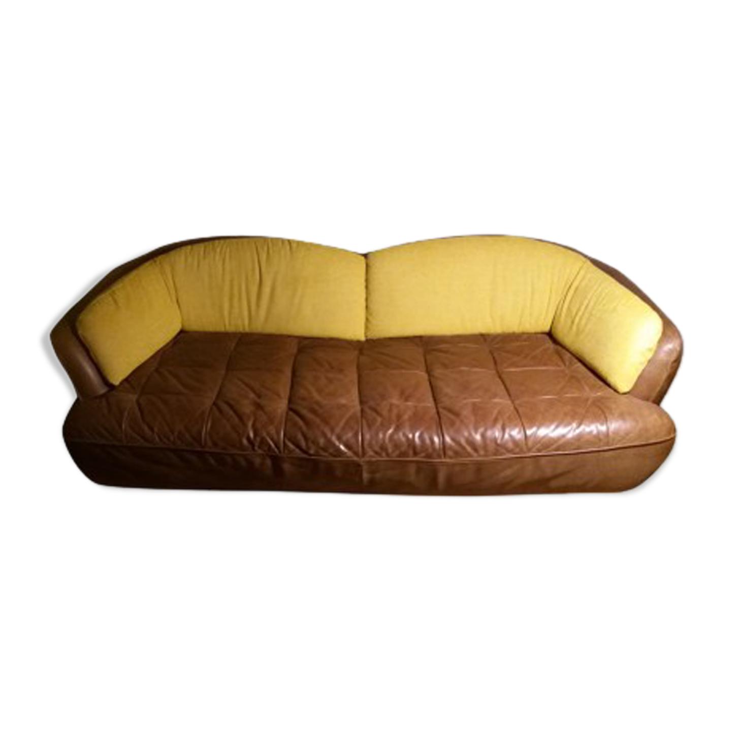 Canapé cuir vintage 3 places