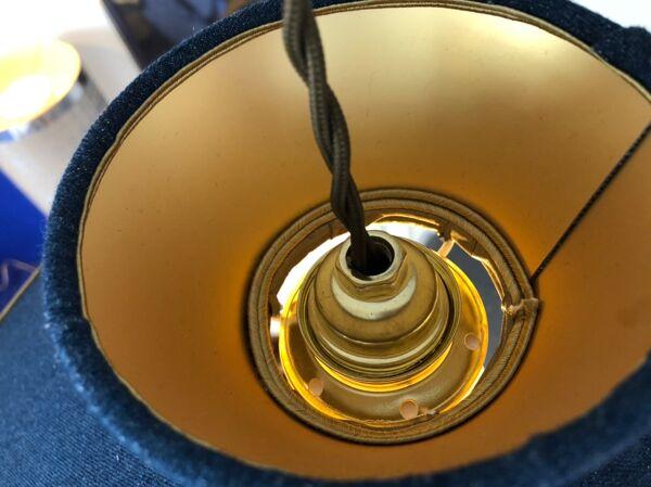 Série de 3 suspensions en chambray et fils d'or