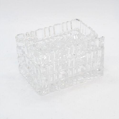 Cendrier en cristal avec étui à cigarettes, Julia Glassworks, Pologne, années 1980