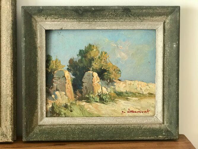 Paire de peintures anciennes