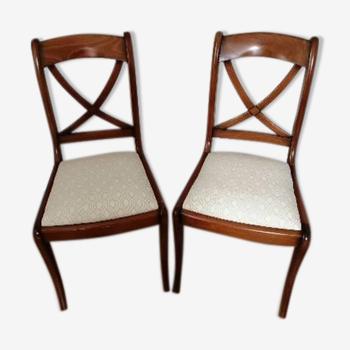 Paire de chaises à croisillons