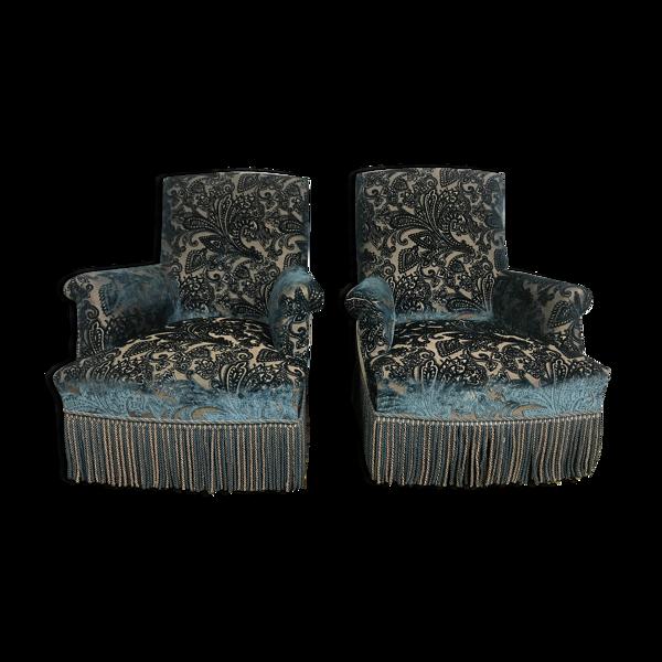 Paire de fauteuils bergères Napoléon III