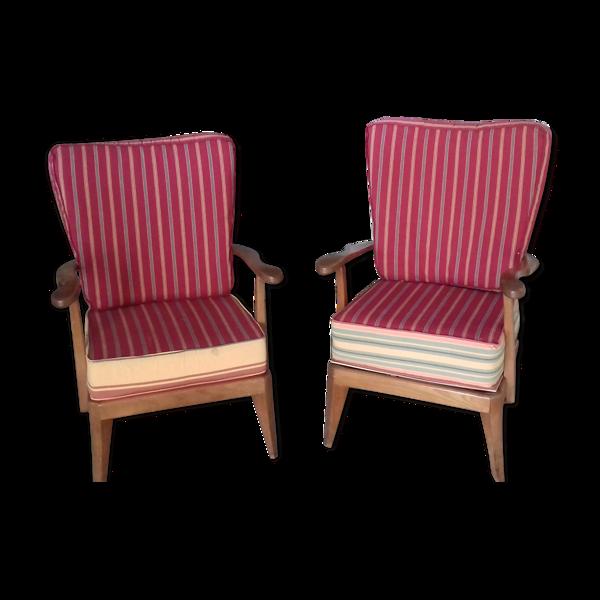 Paire de fauteuils scandinaves
