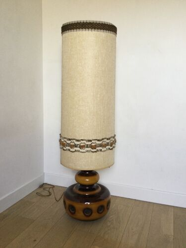 Lampe vintage pied céramique à poser