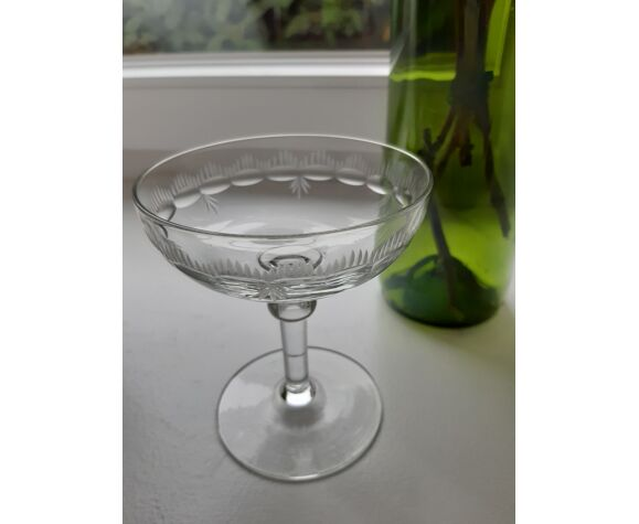 Lot de 6 coupes à champagne en cristal dépareillées début XXeme