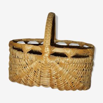 Handmade wicker basket.
