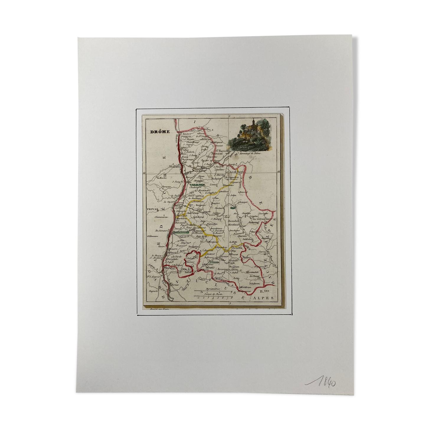 Carte ancienne de la Drôme
