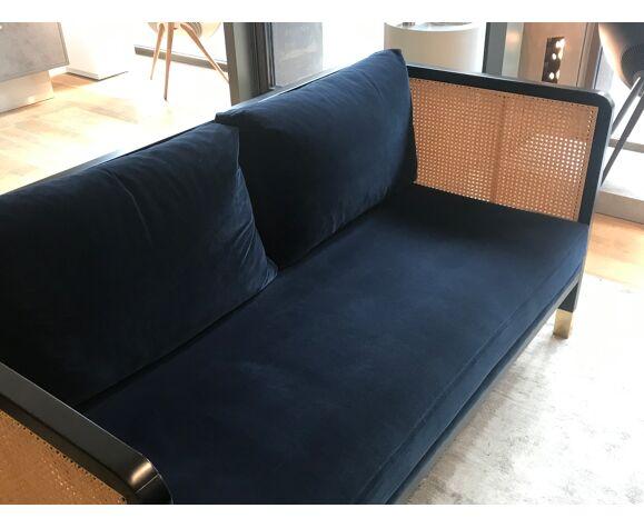 Red Edition Navy Blue Velvet Sofa Selency