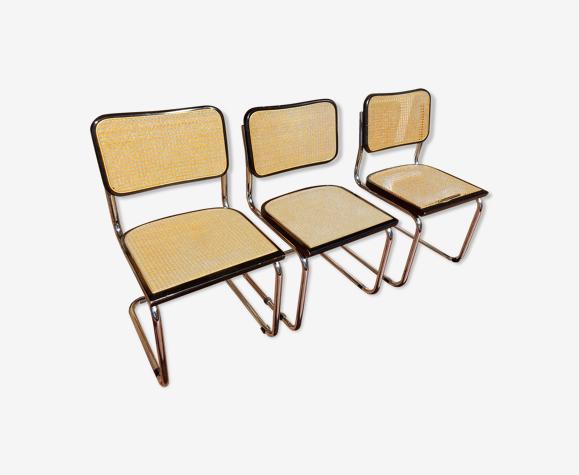 Set de 3 chaises Marcel Breuer B32