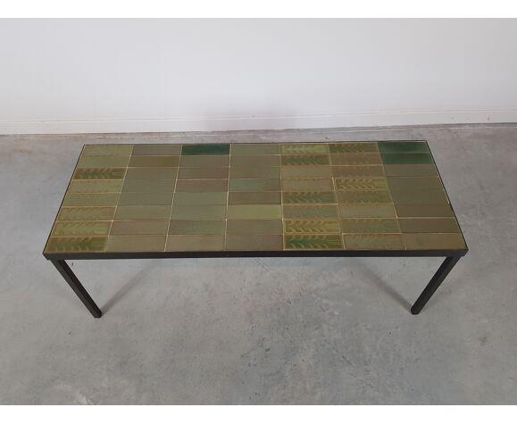 Table basse en céramique Roger Capron