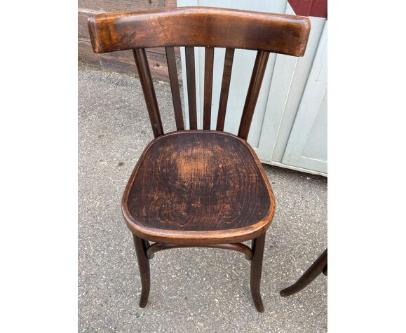 Paire de chaises bistrot brasserie colmar 1950
