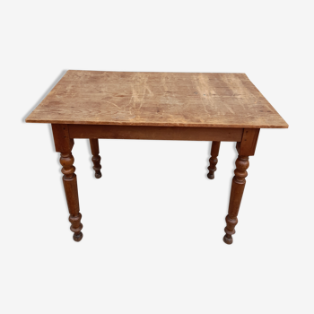Table de bistrot ancienne -1m