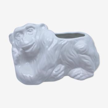Cache pot singe céramique vintage 80