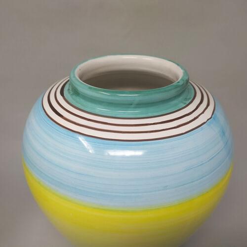 Paire de vases en céramique par Deruta fabriqués à la main en Italie 1970