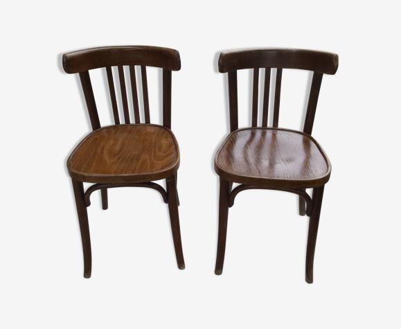 Lot de 2 chaises bistrot Baumann