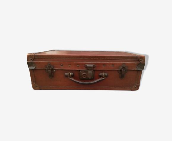 valise ancienne bois et cuir