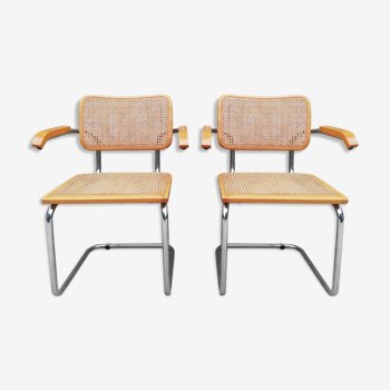 Pair of armchairs B64 Marcel Breuer
