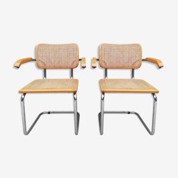 Paire de fauteuil B64 Marcel Breuer