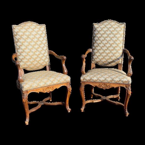 Paire de fauteuils de style régence XIX eme siècle