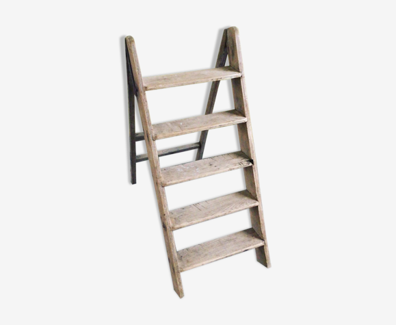 Solid wooden ladder