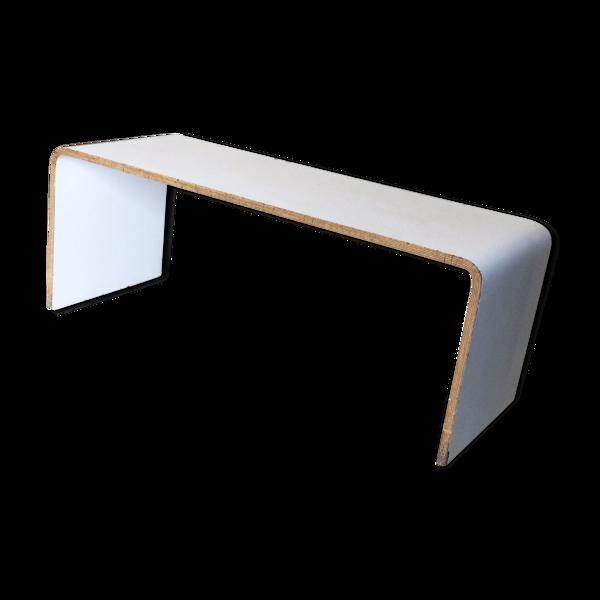 Console basse plywood stratifié blanc