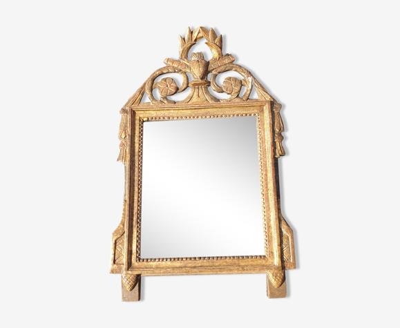 Miroir bois dorée 41x63cm