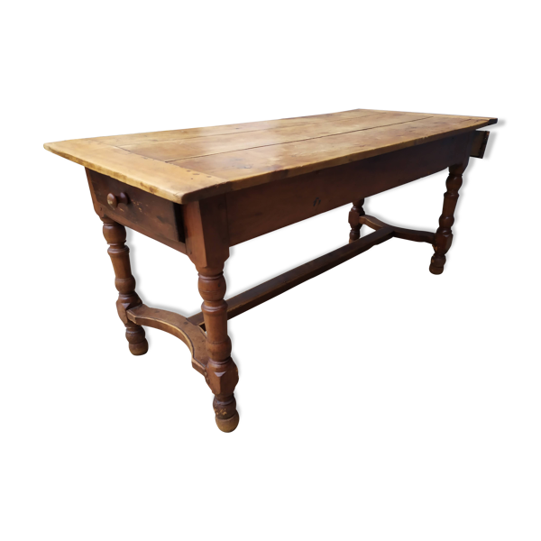 Selency Table de ferme tiroirs