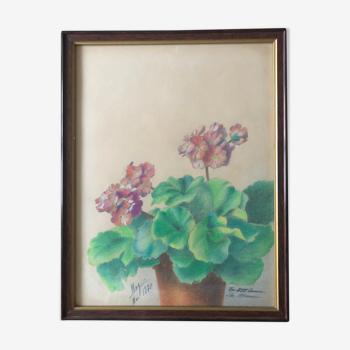 Pastel de fleurs vintage