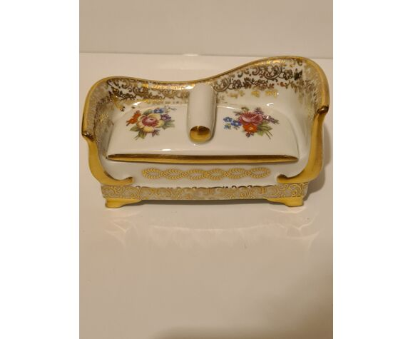 Boîte porcelaine de limoges s a décor floral