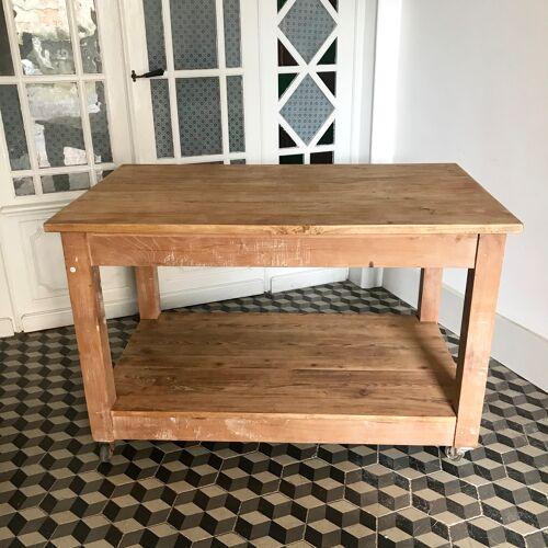 Table drapier en bois