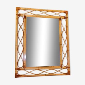 Miroir rotin - 87x69cm