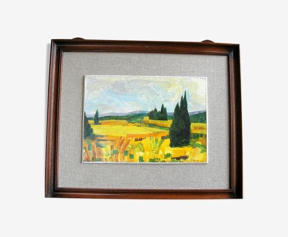 Huile sur cartont de jean Jaffeux (1931-2015)