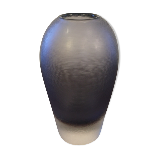 Vase bleu inciso, Paolo venini, circa 1950