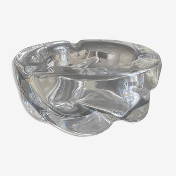 Cendrier oversize en cristal daum