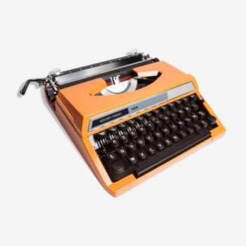 Machine à écrire Silver Reed 100 Seiko orange révisée et ruban neuf
