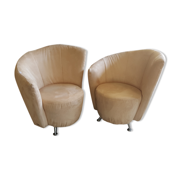 Paire de fauteuils escapade